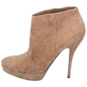 Gucci suede ankle booties size 9.5